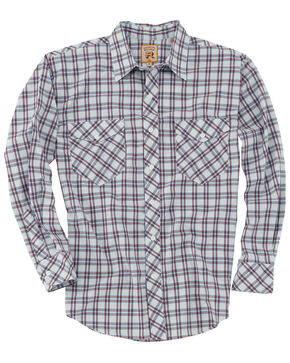 Resistol Men's Congaree Med Plaid Long Sleeve Western Shirt , White, hi-res