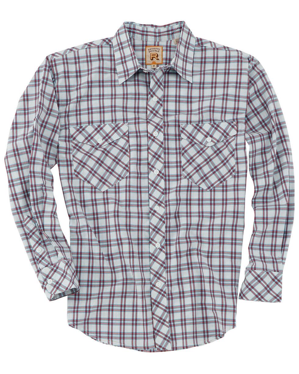 Resistol Men's Congaree Med Plaid Long Sleeve Western Shirt , White, hi-res