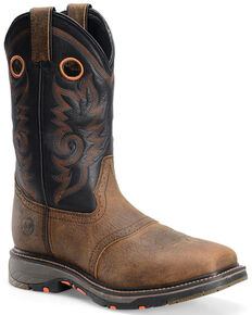 Double H Men's Isaac Western Work Boots - Composite Toe, Brown, hi-res
