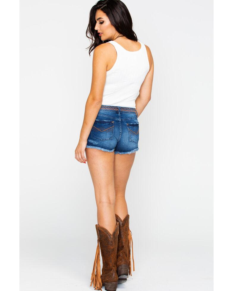 Idyllwind Women's Don't Cross Me Shorts , Blue, hi-res