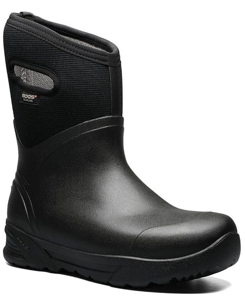 Bogs Men's Bozeman Mid Insulated Work Boots - Soft Toe, Black, hi-res