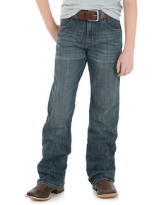 Wrangler Retro Boys' Falls City Relaxed Bootcut Jeans , Blue, hi-res