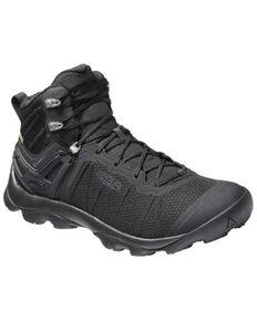 Keen Men's Black Venture Mid Waterproof Lace-Up Hiking Boot , Black, hi-res