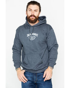 Jack Daniel's Men's Label Pullover Hoodie , Dark Grey, hi-res