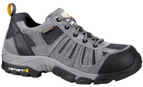 Carhartt Lightweight Waterproof Low-Rise Hiker Work Shoe - Safety Toe, Grey, hi-res