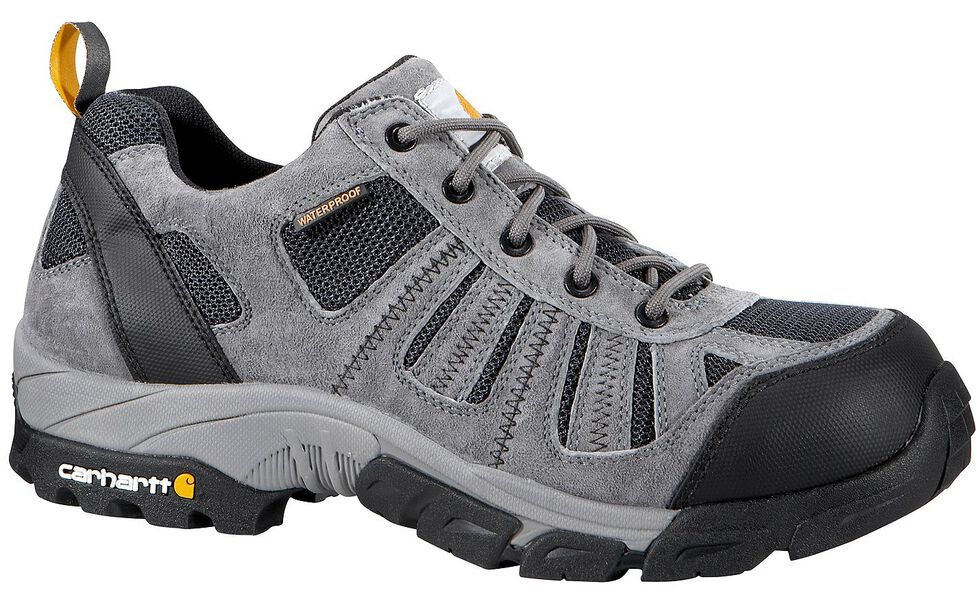 Carhartt Lightweight Waterproof Low-Rise Hiker Work Shoe - Safety Toe, Grey, hi-res