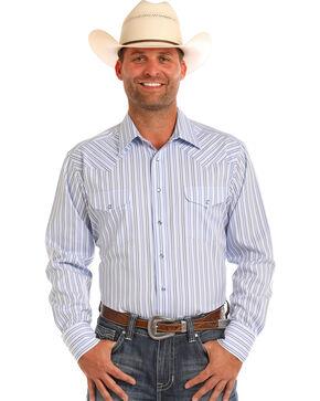 Panhandle Men's Light Blue Striped Shirt , Light Blue, hi-res