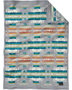 Pendleton Chief Joseph Crib Blanket, Grey, hi-res
