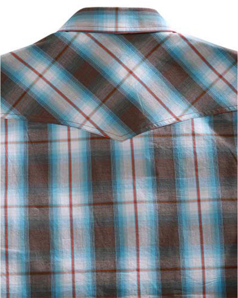 Tin Haul Men's Turquoise Plaid Long Sleeve Western Shirt , Brown, hi-res