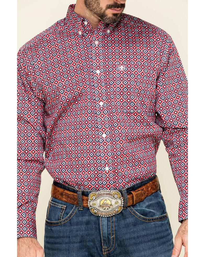 Ariat Men's Shasta Aztec Geo Print Long Sleeve Western Shirt - Big, Multi, hi-res