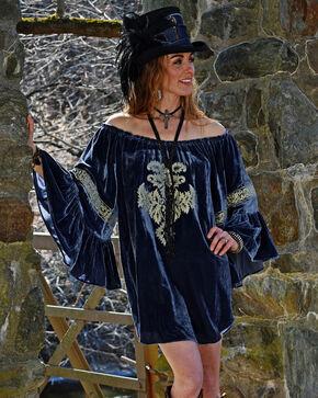 Tasha Polizzi Women's Blue Buckingham Dress , Blue, hi-res