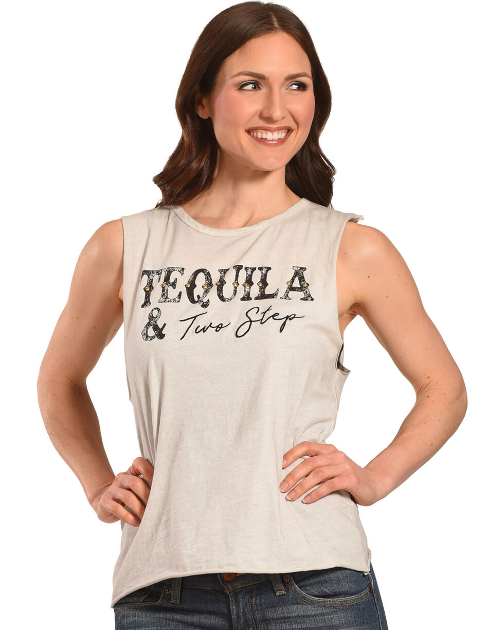 IOC Women's Ivory Tequila Two Step Muscle Tank, Ivory, hi-res