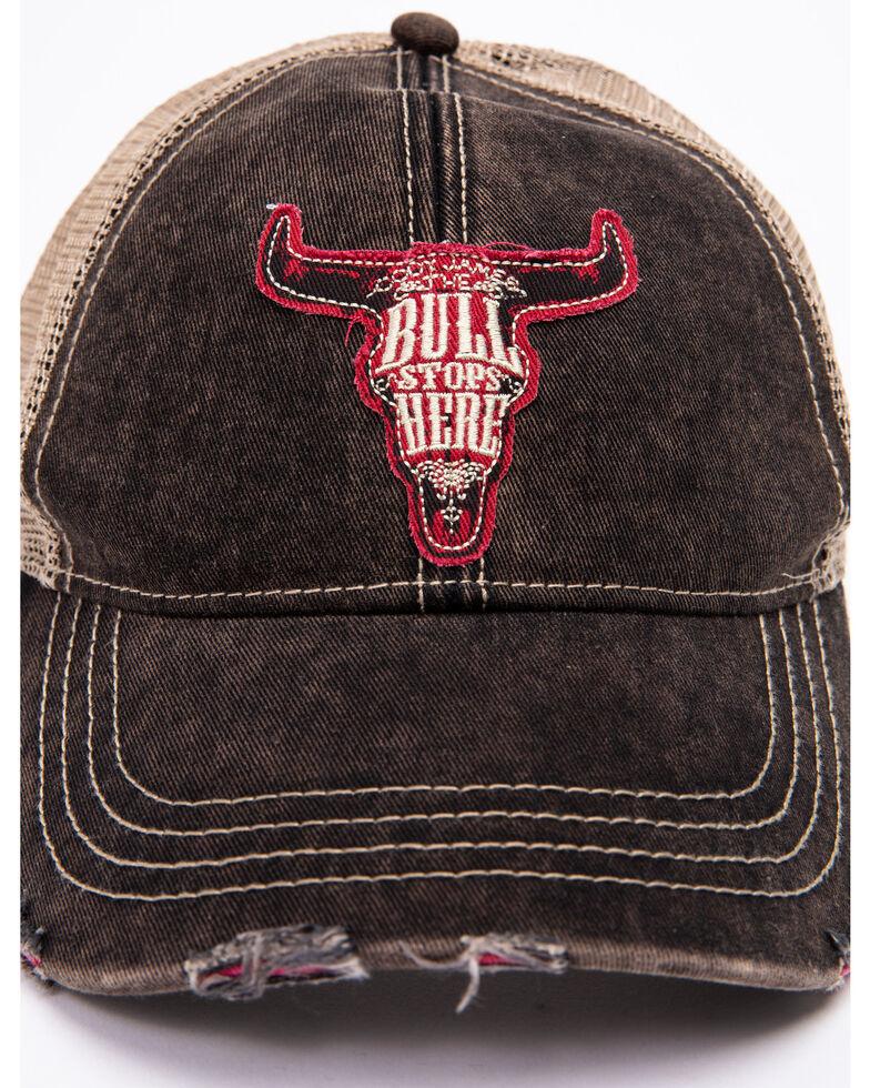 Cody James Men's Bull Stops Here Patch Cap , Black, hi-res