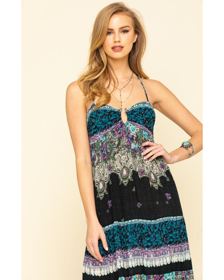 Free People Women's Give A Little Maxi Dress, Black, hi-res