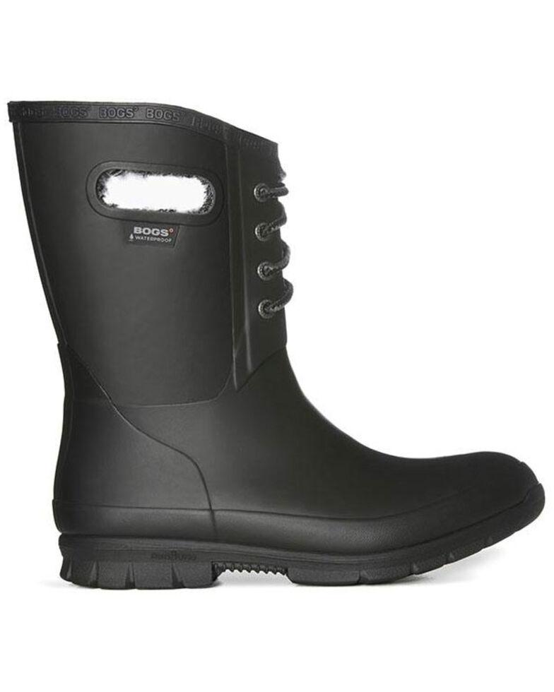 Bogs Women's Amanda Plush Insulated Work Boots - Round Toe, Black, hi-res