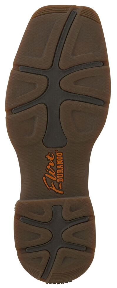 Durango Women's Lady Rebel Cowgirl Boots - Steel Toe, Brown, hi-res