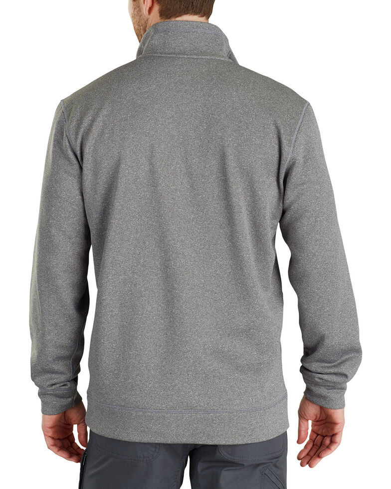 Carhartt Men's Force Extremes Mock-Neck Half-Zip Pullover - Big, Medium Grey, hi-res