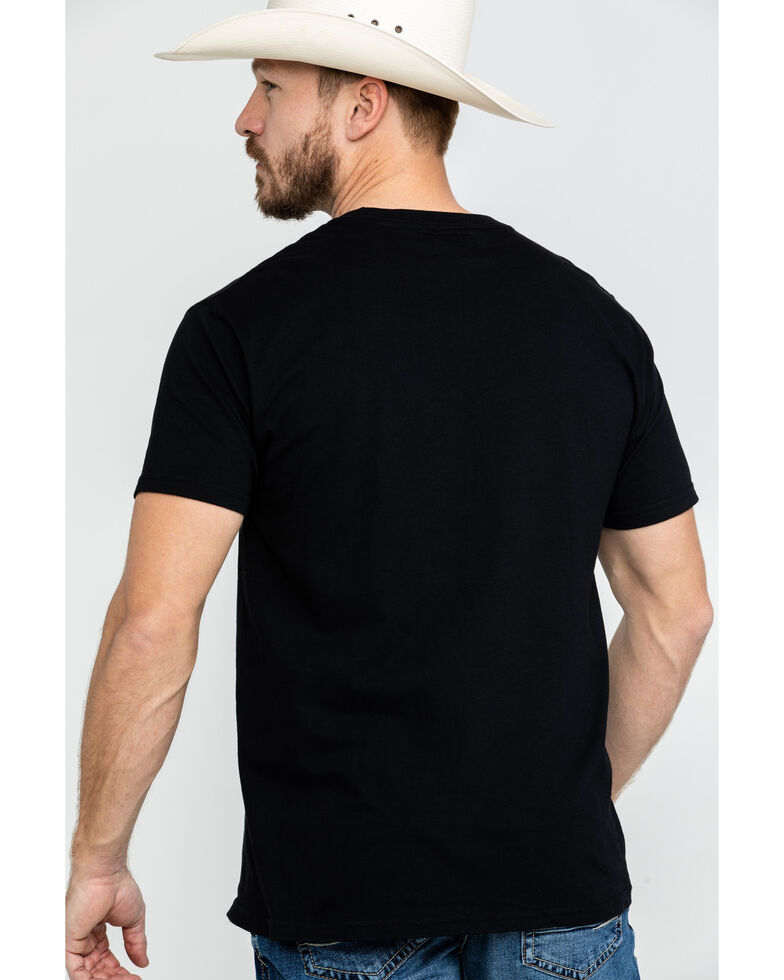 Cinch Men's Logo Flag Graphic T-Shirt , Black, hi-res