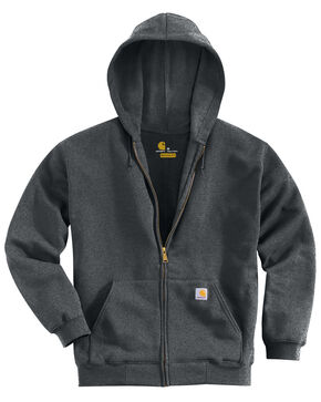 Carhartt Men's Hooded Zip Hoodie - Big & Tall, Charcoal Grey, hi-res