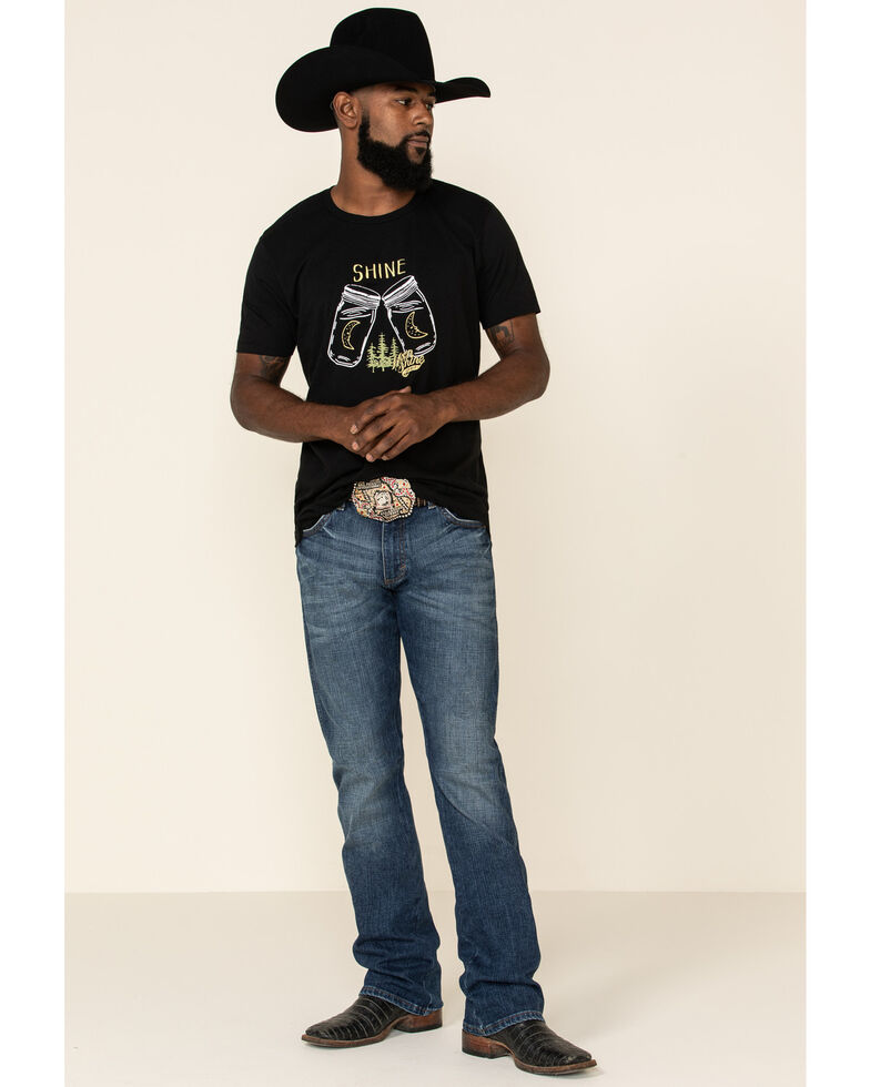 Moonshine Spirit Men's Shine Jar Graphic Short Sleeve T-Shirt , Black, hi-res