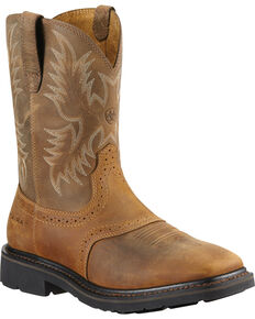 Ariat Sierra Saddle Work Boots - Steel Toe, Aged Bark, hi-res