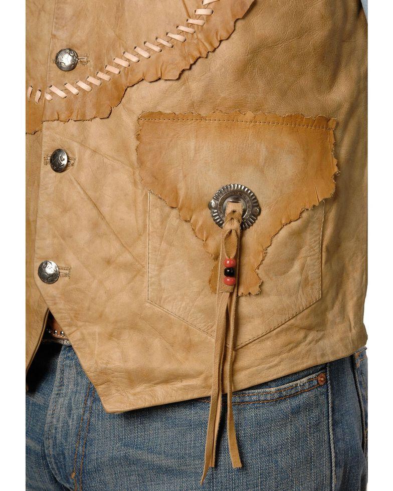 Kobler Raw Edge Leather Vest, Natural, hi-res