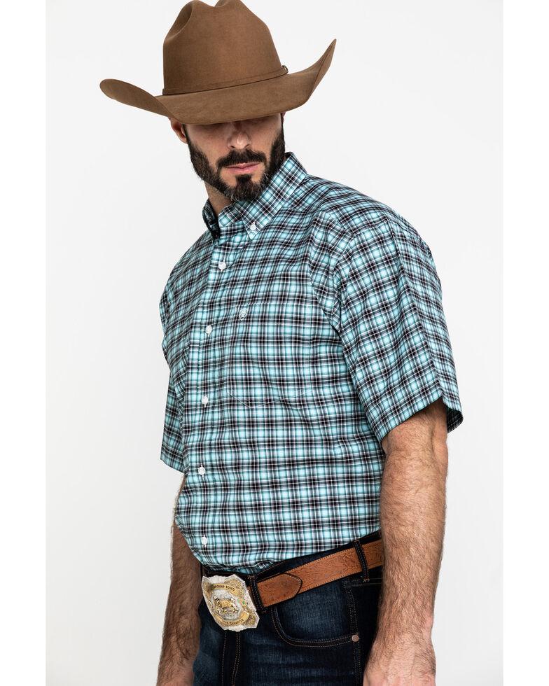 Ariat Men's Klamath Stretch Small Plaid Short Sleeve Western Shirt - Tall , Multi, hi-res