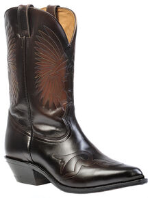 Boulet Hand-Washed Cowhide Challenger Cowboy Boots - Pointed Toe, Russet, hi-res