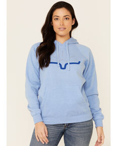 Kimes Ranch Women's Light Blue Sunrise Logo Graphic Hoodie, Light Blue, hi-res