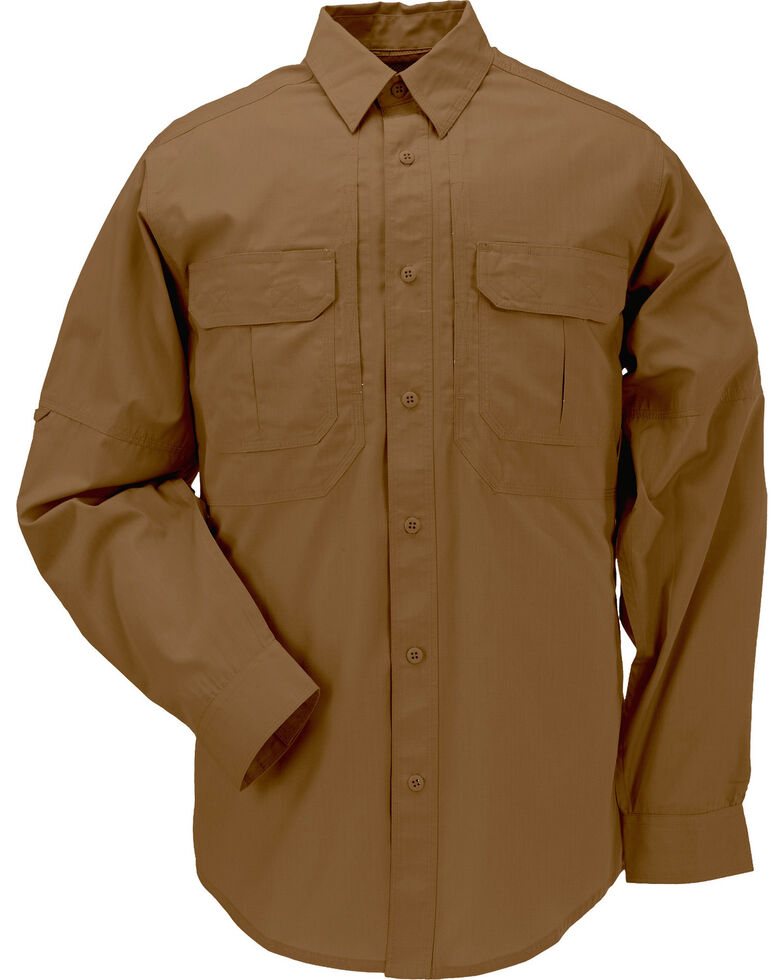 5.11 Tactical Taclite Pro Long Sleeve Shirt - 3XL, Brown, hi-res