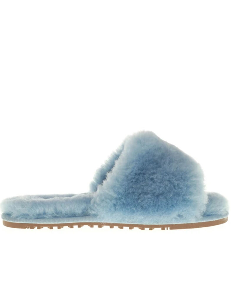 Lamo Footwear Women's Naomi Sheepskin Sandals, Light Blue, hi-res