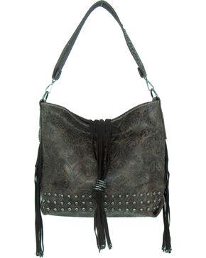 Savana Women's Tooled Concealed Carry Handbag, Brown, hi-res