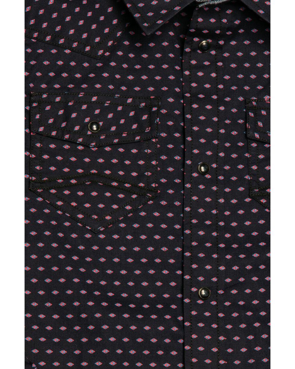 Cody James Boys' Scalene Geo Print Long Sleeve Western Shirt , Navy, hi-res
