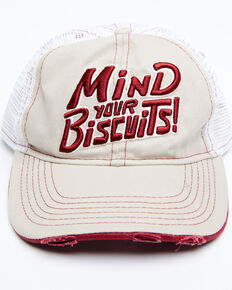 Idyllwind Women's Mind Your Biscuits Mesh-Back Ball Cap, Tan, hi-res