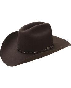 Master Hatters Men's Cordova Kilgore 3X Wool Felt Cowboy Hat, Dark Brown, hi-res