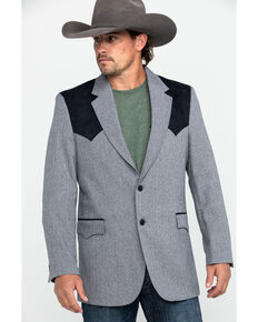 Circle S Men's Lubbock Sport Coat , Grey, hi-res