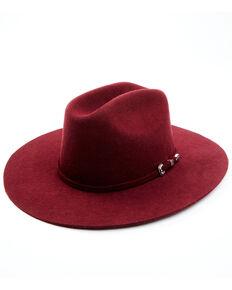 Idyllwind Women's Wild Rancher Wool Felt Western Hat , Burgundy, hi-res