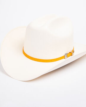 Cody James Men's Panama Faux Gator Buttercup Marlboro Cowboy Hat, Natural, hi-res
