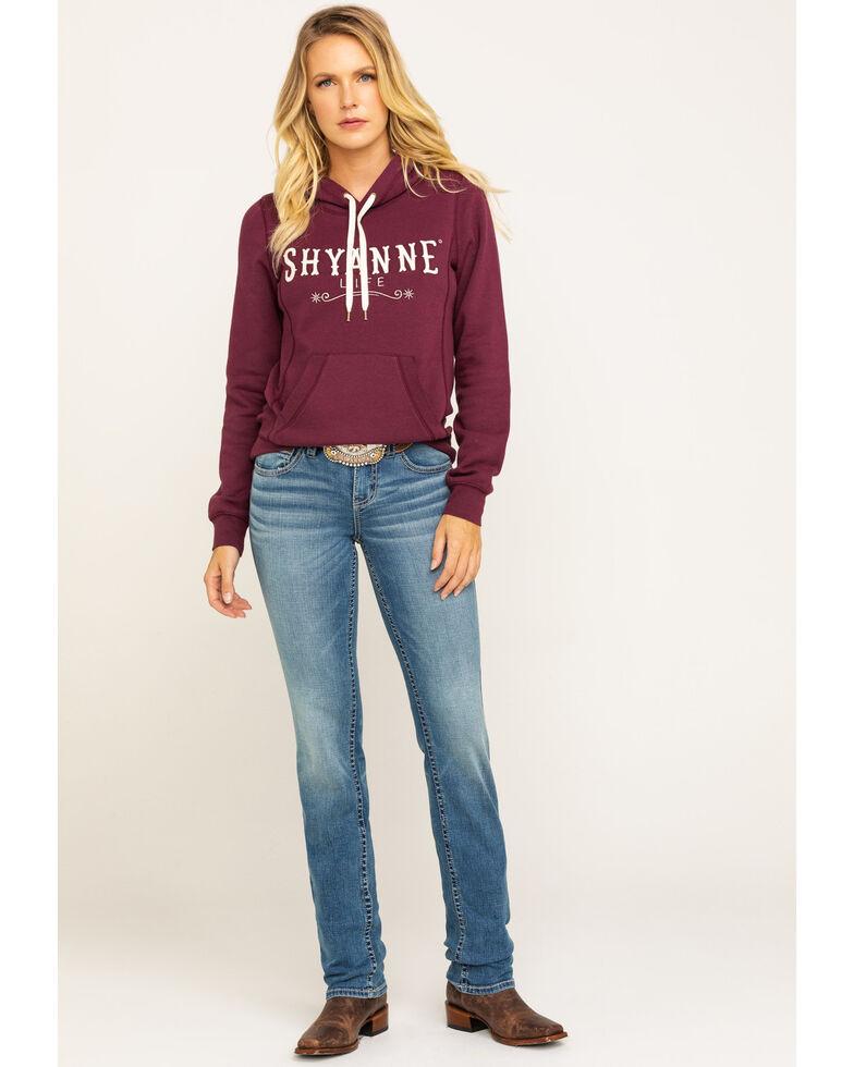 Shyanne Life Women's Wine Logo Hoodie , Wine, hi-res