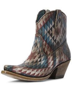 Ariat Women's Aztec Eye Dazzler Western Booties - Snip Toe, Multi, hi-res