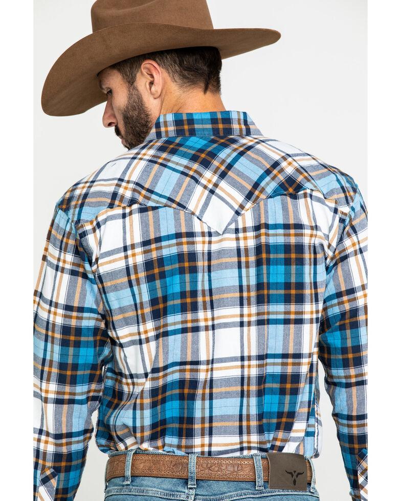 Resistol Men's Multi Magnolia Plaid Long Sleeve Western Shirt , Multi, hi-res