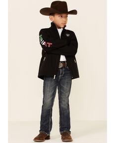 Ariat Boys New Team Mexico Softshell Jacket , Black, hi-res