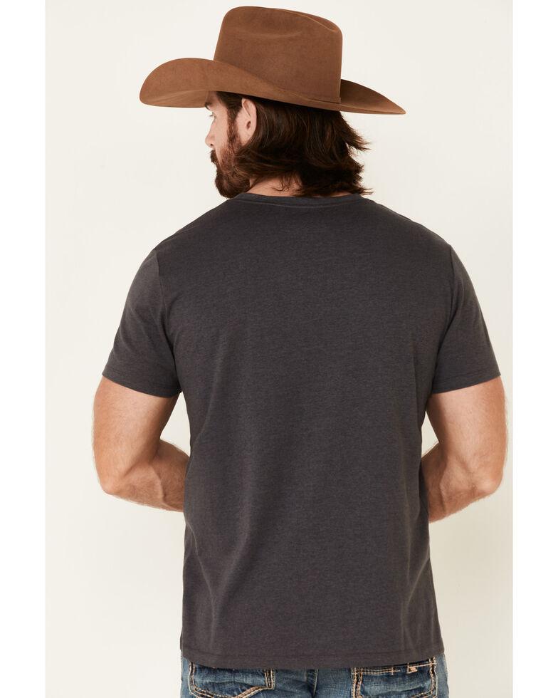 Rock & Roll Denim Men's Charcoal Square Graphic Short Sleeve T-Shirt , Charcoal, hi-res