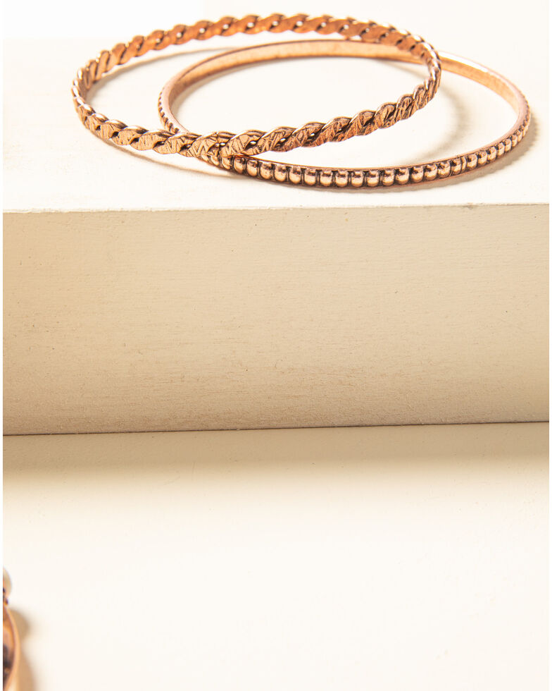Shyanne Women's Desert Dreams Bangle Bracelet Set , Rust Copper, hi-res