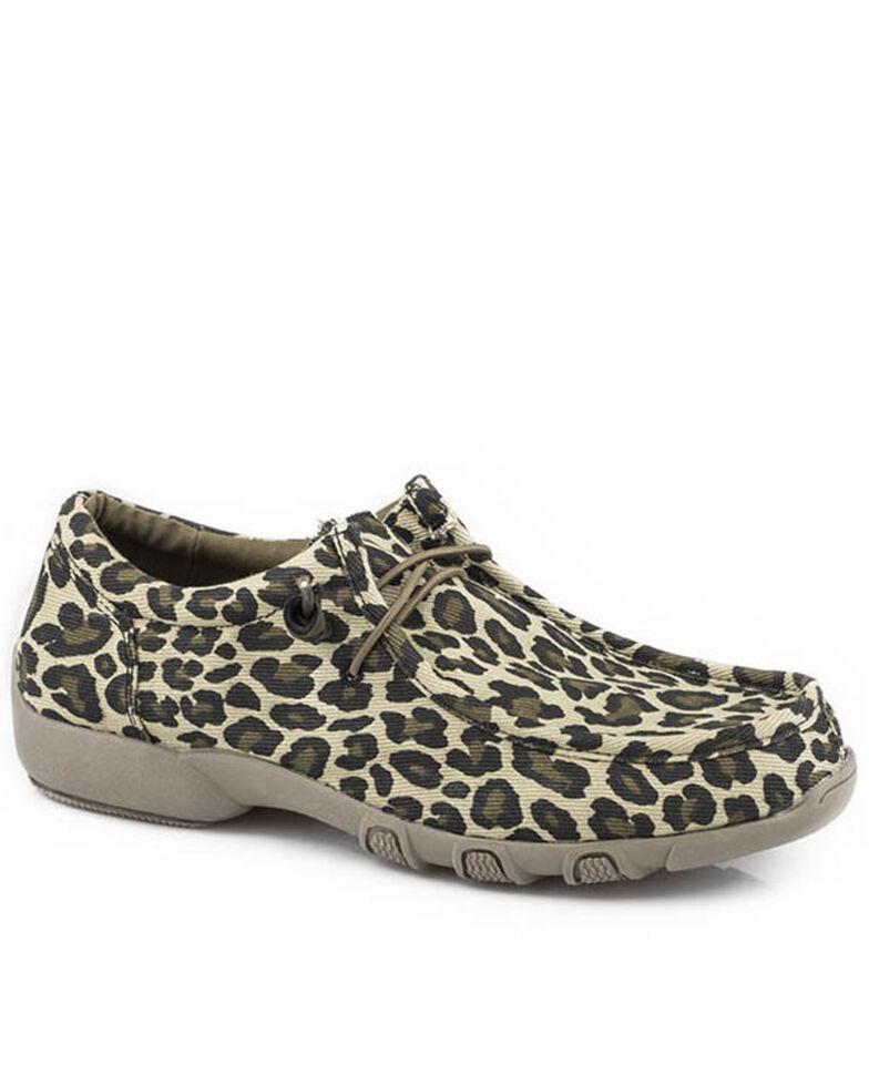 Roper Women's Chillin' Leopard Casual Shoes - Moc Toe, , hi-res