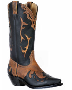 Boulet Women's Snip Toe Western Boots, Black, hi-res