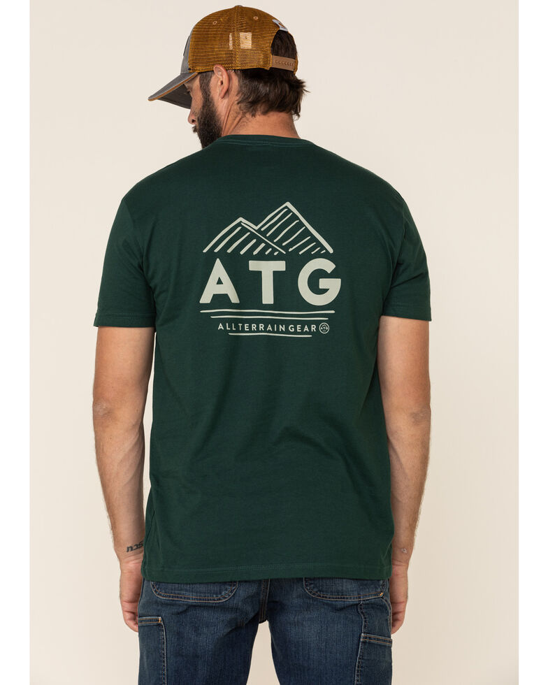 Wrangler All-Terrain Men's Forest Green ATG Logo Graphic Short Sleeve T-Shirt , Dark Green, hi-res