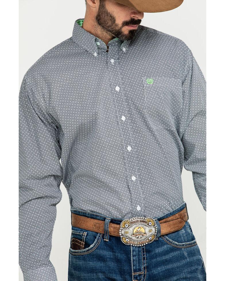 Cinch Men's Multi Small Geo Print Button Long Sleeve Western Shirt - Big , Multi, hi-res
