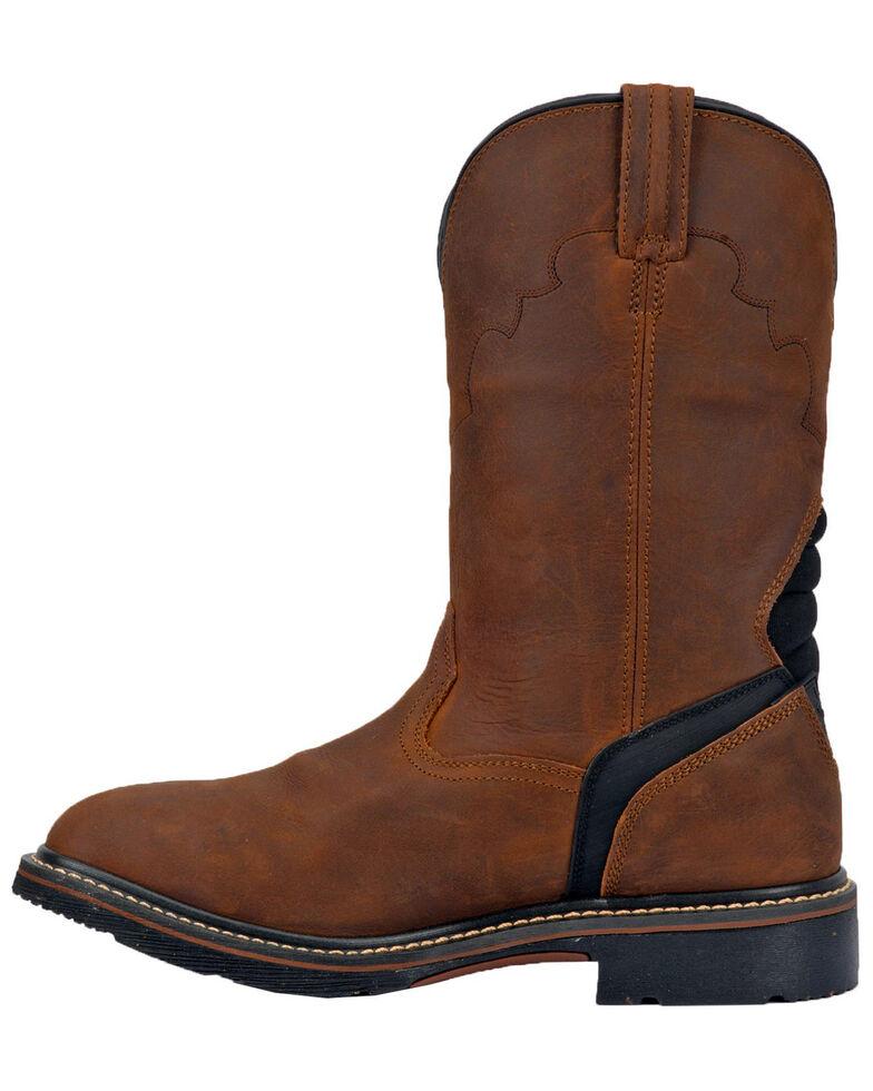 Dan Post Men's Lubbock Waterproof Western Work Boots - Wide Square Toe, Tan/copper, hi-res