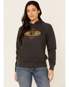 Kimes Ranch Women's Charcoal El Paso Logo Graphic Hoodie , Charcoal, hi-res